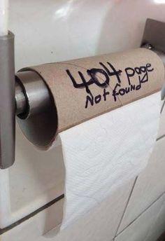 insolite 404 papier rouleau toilette