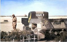British truck in german hand, DAK north Africa WW2, Agfa color photo, pin by Paolo Marzioli