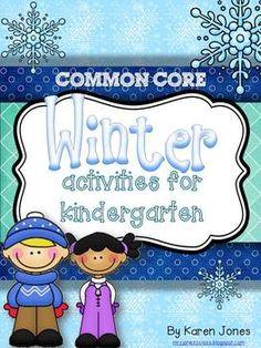 Common Core Winter Activities for Kindergarten! Jan Brett Author Study included. $