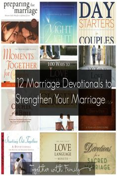 12 Marraige Devotionals that can Strengthen Your Marraige: This devotional list is a great list of devotionals you can do togehter as a couple
