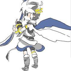Kid Icarus Uprising Black Pit Gamer Girls Super Smash Bros Chibi Video Game Art Awesome Stuff Nintendo Games Videogames
