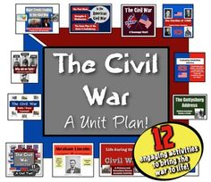 ** Save 28% with the BTS Sale **  Civil War Unit: 12 engaging, Common Core lessons to teach the American Civil War