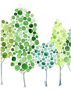 Watercolour Forest by Angie Vandenbogaard, via Etsy.