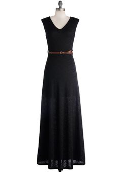 I Love Glamp Dress. Infuse the easygoing atmosphere of the ritzy campground with the glamour of this black maxi dress. #black #modcloth