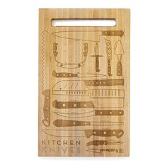 Look what I found at UncommonGoods: kitchen knives cutting board... for $60 #uncommongoods