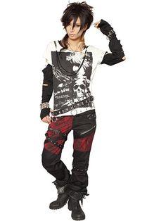 SKULL BLACK 2-Way Cutsew Off-White x Black + Black. See more at http://www.cdjapan.co.jp/apparel/new_arrival.html?brand=SPT #harajuku #punk
