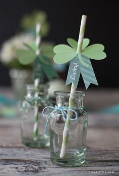 St. Patrick's Day Printable Paper tags, St. Patrick's Day table settings,  St. Patrick's Day party decor ideas