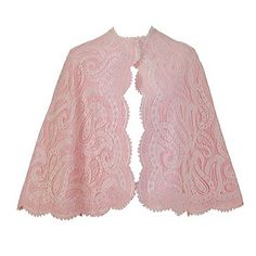 PAULINE TRIGERE PINK LACE CAPELET | From a collection of rare vintage coats and outerwear at http://www.1stdibs.com/fashion/clothing/coats-outerwear/