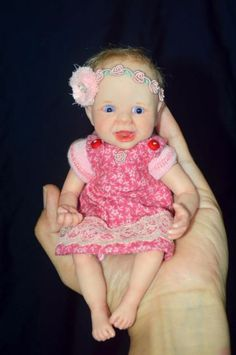 OOAK Baby Polymer Clay Hand Sculpted Art Doll 7 inches by Wendy Valles | eBay