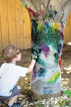 "Finally! It's that time of year when you spend more time outdoors than in. Now you can say ""yes"" to those activities you said ""no"" to all year because they were too messy for, well, anywhere with walls. Kids will love these ideas for messy play, and so will you, because hey; clean up is easier outside."
