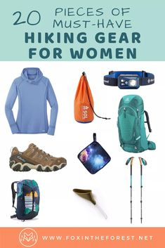 Kick-Ass Hiking Gifts for Her that She'll Actually Want This Year Best women's hiking gear. A list of must-have hiking gear for women. Essential hiking gadgets, clothes, and day hiking gear for beginners and. Hiking Gear Women, Hiking Gear List, Hiking Gifts, Backpacking Gear, Womens Hiking Outfits, Sport Outfits, Colorado Backpacking, Backpacking For Beginners, Trekking Gear