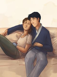 Sleepy Kaider cuddles~ Because running a country is hard work.
