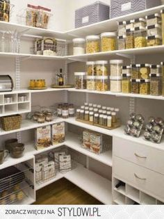 LOVE The Organization. Clutter Free Pantry W/ Clear Storage Containers.