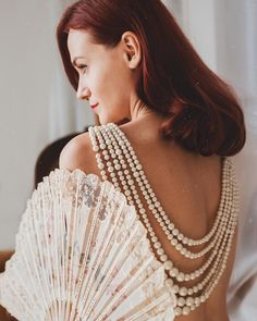 Back Necklace, Pearl Necklace, Vintage Glamour, Marriage, Delicate, Photoshoot, Pearls, Detail, My Style