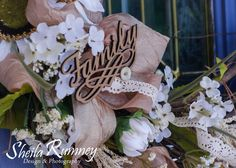 Really Reasonable Ribbon Challenge - Anything  Goes with Ribbon  Family Wreath  www.sheilarumney