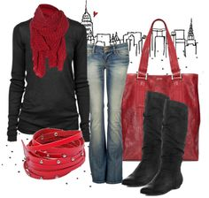 """""""Blushing Reds"""" by anne-ratna on Polyvore"""