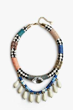 Collar cuerdas strass - collares | Adolfo Dominguez shop online