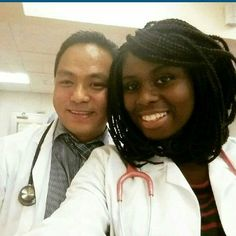 Beautiful interracial couple, both of whom are doctors #love #ambw #bwam…