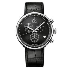 1ef95facfd3 Substantial Chronograph Black Dial Black Leather Men s Watch. ck ...