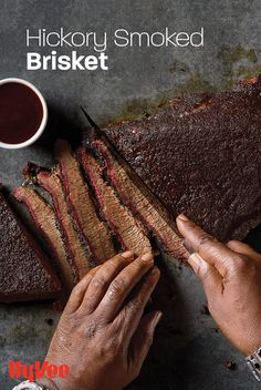 Everything is bigger in Texas, and that includes flavor! Moe knows what it takes to grill a delicious brisket and has created a Texas brisket rub perfect for this recipe. Texas Brisket, Brisket Rub, Smoked Beef, Smoked Brisket, Chicken And Veggie Recipes, Good Burger, Recipe Using, Sausage, Grilling