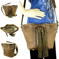 Western Canvas Purse Country Cowgirl Fringe Designer Montana West Crossbody Bag Canvas Crossbody Bag, Canvas Purse, Leather Tassel, Leather Men, Western Purses, Hippie Tops, Designer Crossbody Bags, Westerns, Montana
