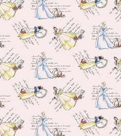 i want to make a dress out of this so much for the parks!!!! Disney Fashionable Princess Cotton Fabric