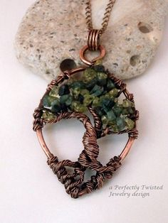 sold! Wire Wrapped Tree of Life Pendant Peridot & by PerfectlyTwisted