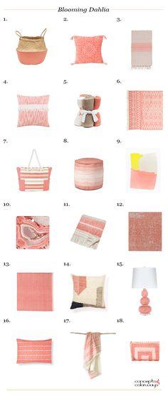 pantone blooming dahlia, peach interior design, peach color, peach interior, peach room decor