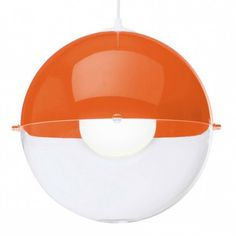 The Koziol Orion Hanging Lamp is an orange ball pendant light that will suit any retro or modern interior.
