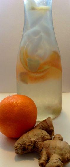 Ginger Orange Fruit Infused Water - Fruit Infused Waters