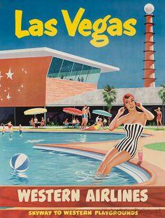 Vintage style travel poster - USA - Las Vegas