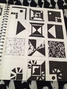 Studio 1: Positive/Negative space Tryptich page/thumbnails for project