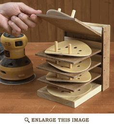 Sanding Disc Caddy Woodworking Plan, Shop Project Plan | WOOD Store