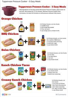 5 Tupperware Pressure Cooker Meals