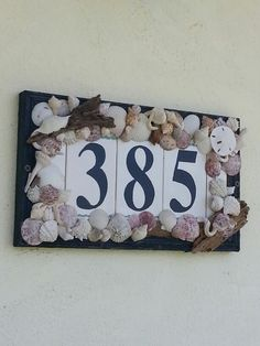 Jazz up your house numbers to reflect your coastal style!