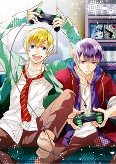 Couch co-op with you. my God, it's hard for me to describe how happy the idea of that makes me. Cute Anime Guys, All Anime, Anime Art, Gakuen Babysitters, Gekkan Shoujo Nozaki Kun, Manga Quotes, Ichimatsu, Geek Stuff, Drawings