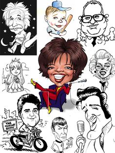 caricatures | Learn to Draw Caricatures Quickly and Easily | Draw Caricatures ...