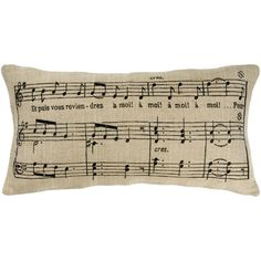 Music printed on fabric and made into a pillow - idea from Joss and Main