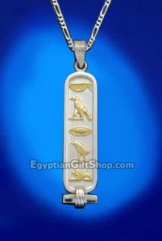 Personalized 18k gold cartouche pendant egyptian cartouche jewelry personalized silver with 18k gold letters cartouche pendant aloadofball Choice Image