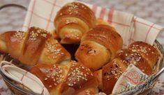 Recept Nadýchané sýrové rohlíky Pretzel Bites, Foodies, French Toast, Muffin, Bread, Baking, Breakfast, Cukor, Eastern Europe