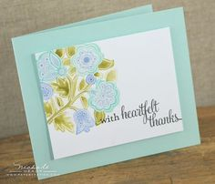 Heartfelt Thanks Card by Nichole Heady for Papertrey Ink (January 2013)