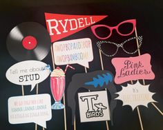 Ggrease Photo Booth Prop ideas
