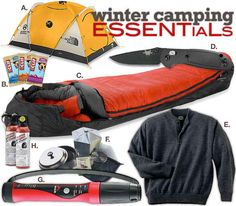 Buy your winter camping essentials when they're on sale during the summer.