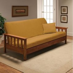 Madison Home Stretch Jersey Full Futon Cover in Yellow $35. I kinda like this. lol.