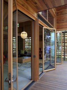 Cabin With Glass Door