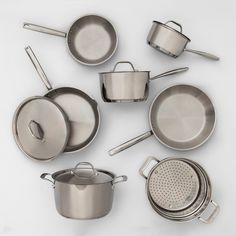 Purchase Made By Design Stainless Steel Cookware Set, Induction Compatible, Dishwasher Safe (New Open Box) from RenewGoo on OpenSky. Share and compare all Kitchen. Induction Cookware, Induction Heating, Pots And Pans Sets, Balkon Design, Target, Gas And Electric, Pan Set, Cookware Set, Food Storage Containers