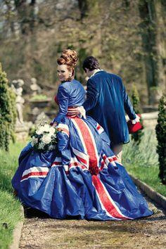 Union Jack Jubilee Dress very different kind of cool isn't it! Great British, British Style, Mr Mrs, British Wedding Dresses, Windsor, Mahal Kita, Union Flags, British Things, Knee Up