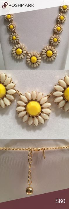 "♠️ Kate Spade Estate Garden Daisy necklace Inspired by vintage jewels this gold plated necklace features epoxy daisies in yellow and white that graduate in size.  Length 18-20"". Kate Spade Jewelry Necklaces"
