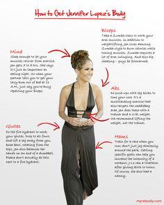 How to get Jennifer Lopez's body.