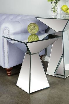 Cleo Small Mirrored Table by Statements By J on @HauteLook